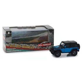 "Greenlight - 1:43 2010 Jeep Wrangler ""The General"" Jeep Wrangler Concept - Blue"