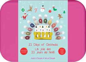 12 Days Of Christmas water-based, peel-off nail kit