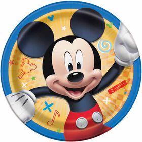"Mickey  7""  Plates, 8 pieces"