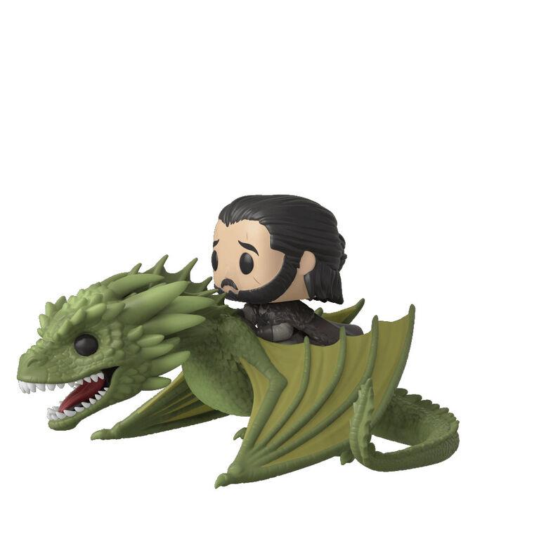 Figurine en Vinyle Jon Snow Avec Rhaegal Par Funko POP! Game of Thrones
