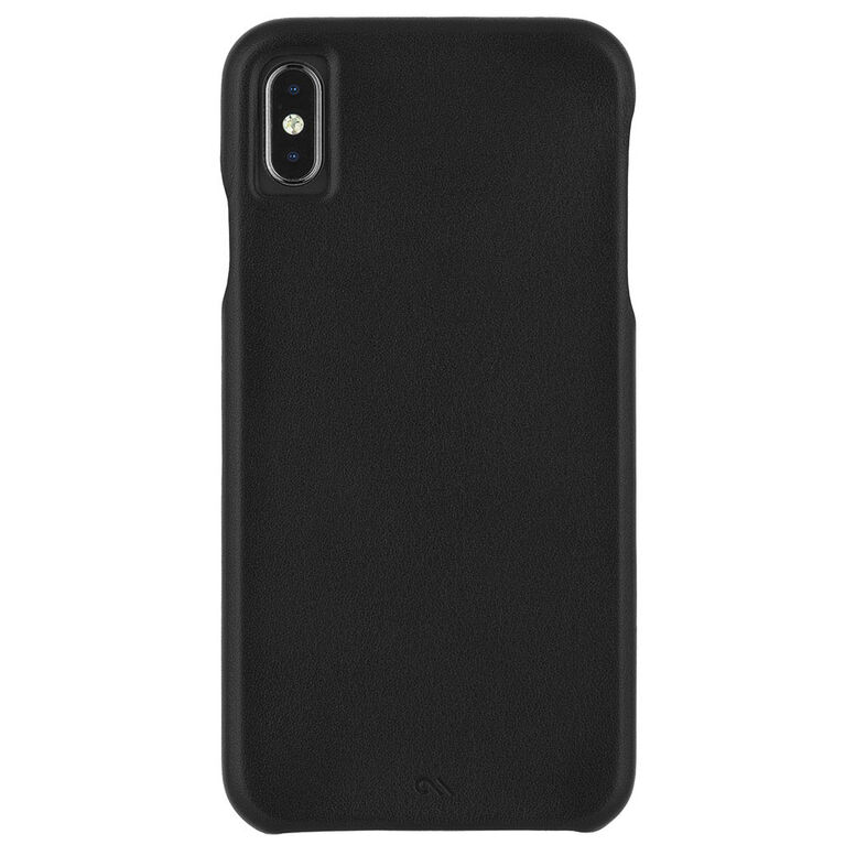 Case-Mate Barely There Leather Case iPhone Xs Max Black