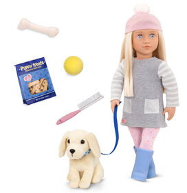 Our Generation, Meagan, 18-inch Doll & Pet Set