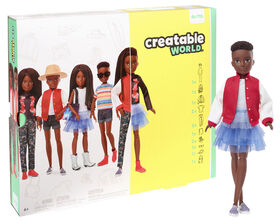 Creatable World Deluxe Character Kit Customizable Doll, Black Braided Hair