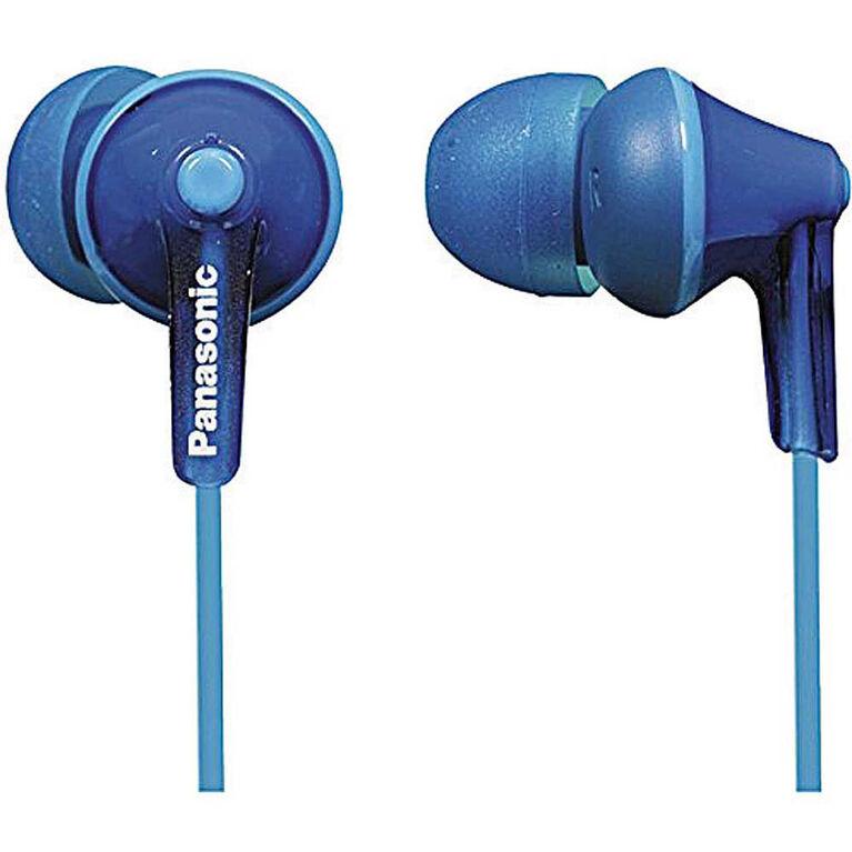 Écouteurs ergonomiques à isolation sonore RPHJE125 de Panasonic - bleu