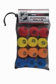 LNH - Ensemble de 12 balles de rechange en mousse pour le hockey miniature