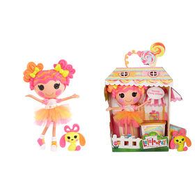 """Lalaloopsy Doll - Sweetie Candy Ribbon with Pet Puppy, 13"""" taffy candy-inspired doll"""