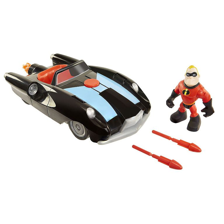 "Incredibles 2 Vehicle w/ 3"" Figure Elastigirl"