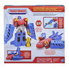 Transformers, Optimus Prime Jumbo Jet de course avec figurine Bumblebee voiture de course de 11 cm