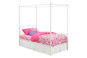 DHP - Canopy Twin Metal Bed, White