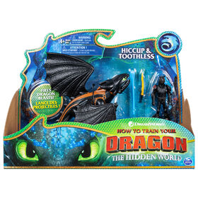 How To Train Your Dragon, Toothless and Hiccup, Dragon with Armored Viking Figure