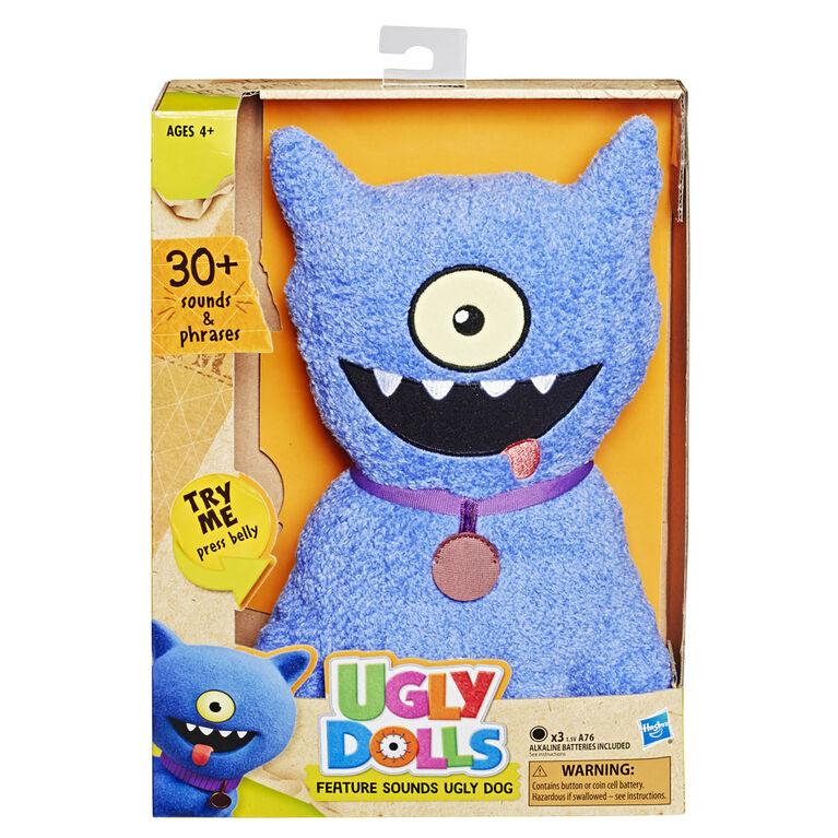 UglyDolls Feature Sounds Ugly Dog, Stuffed Plush Toy