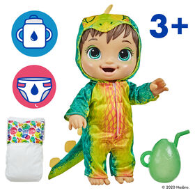 Baby Alive Dino Cuties Doll, Stegosaurus, Brown Hair