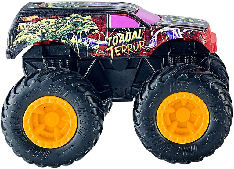 Hot Wheels - Monster Trucks Rev Treds Dueling Doubles Splatter Time VS Toadal Terror Vehicles