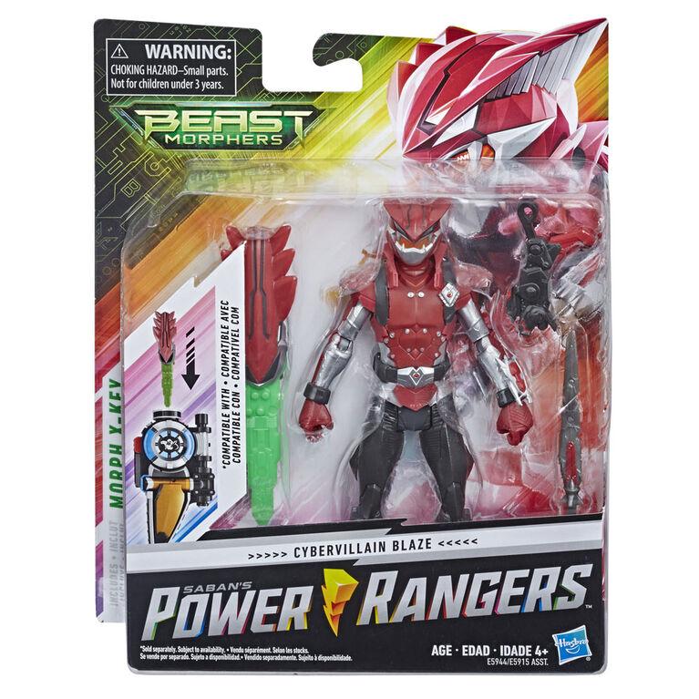 Power Rangers Beast Morphers - Figurine jouet de 15 cm Cybervillain Blaze.