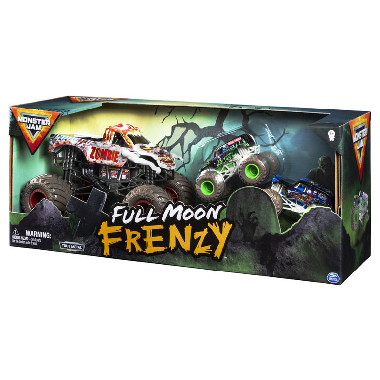 Monster Jam, Full Moon Frenzy 3-Pack of Official Exclusive Monster Jam Die-Cast Trucks - R Exclusive