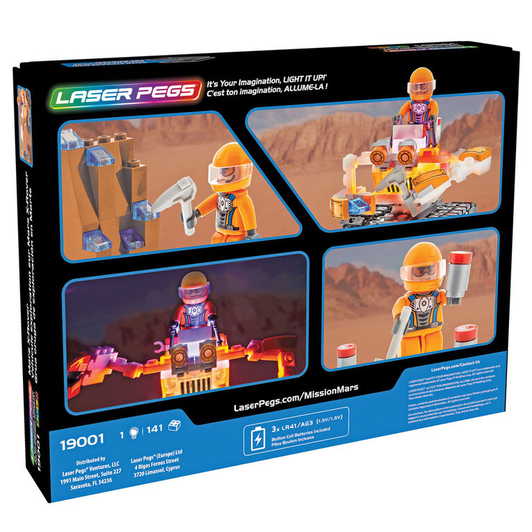 Laser Pegs Mars X-Rover (Excavating Rover)