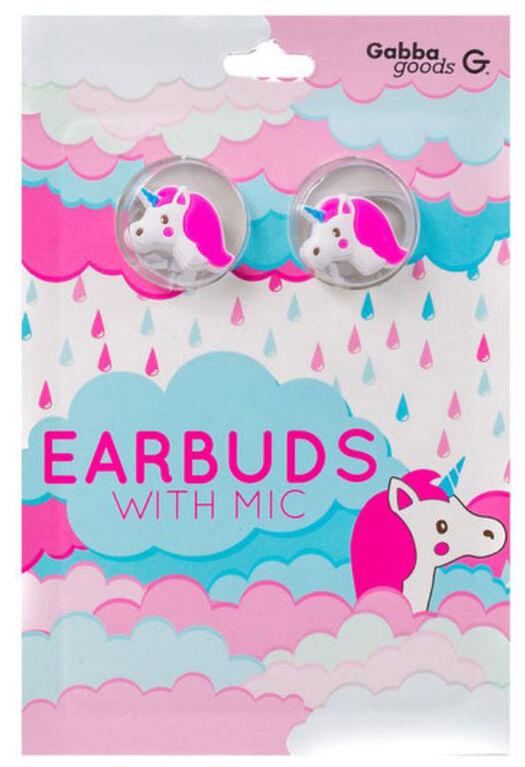 GabbaGoods Earbuds - Unicorn