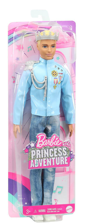 Barbie Princess Adventure Prince Ken Doll (12-inch) in Fashion and Accessories