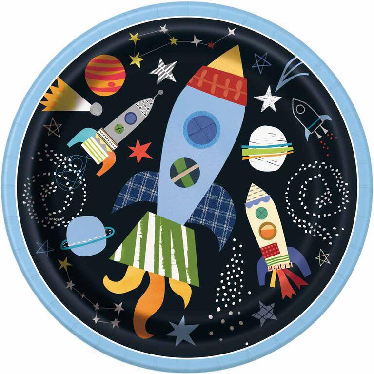 Outer Space Assiettes 9po, 8un