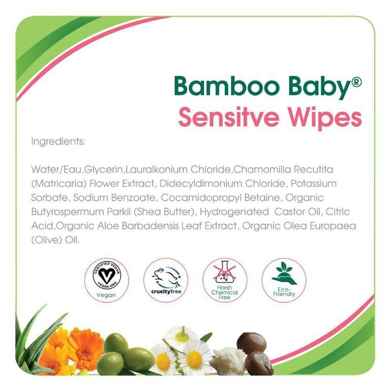 Aleva Naturals Bamboo Sensitive Wipes 72 count