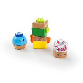 Four Fundamentals Wooden Sensory Set
