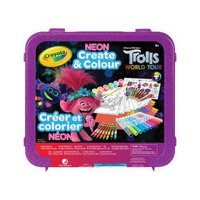 Crayola Trolls World Tour Neon Create & Colour Art Set