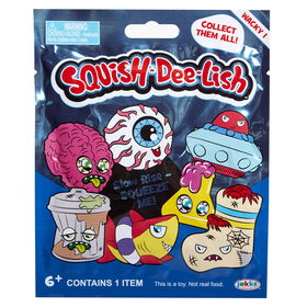 """Squish Dee Lish Wacky Squish Wave One - Squish-Dee-Lish """"Wacky"""" are super awesome slow-rise foam squishy toys that are fun to collect and squeeze. Fun & cool designs like Cyclops and UFO. Each are packed in blind foil bag.  Enjoy hours of squeezing fun"""