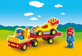 Playmobil 1.2.3. - Tow Truck with Race Car (6761)