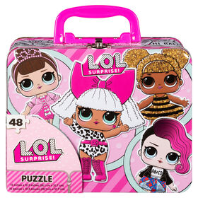 L.O.L. Surprise! 48-Piece Puzzle in Tin With Handle