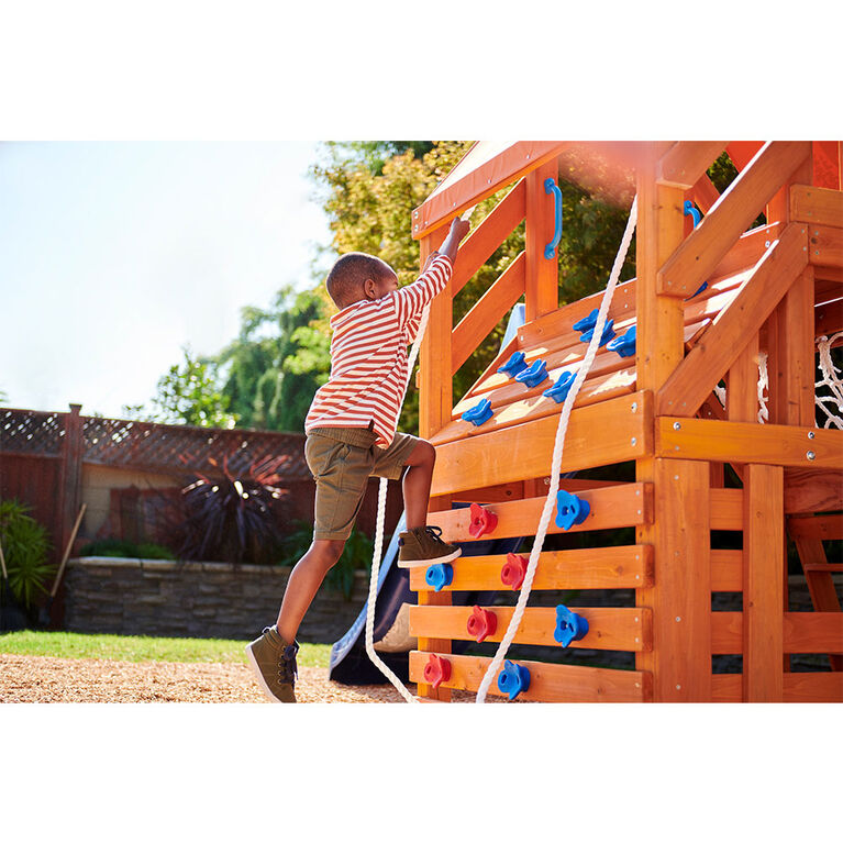 Real Wood Adventures Panther Peak Backyard Playset for Kids by Little Tikes