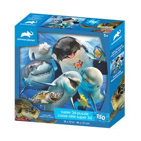 Planète Animale - Ocean Selfie - 150 pc Casse-tête Super 3D - Notre exclusivité
