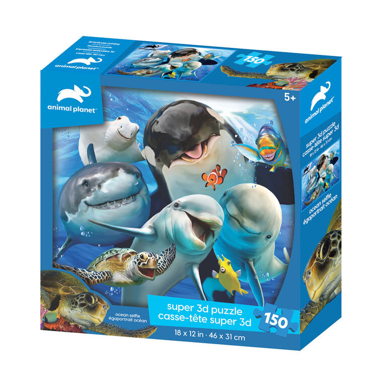 Animal Planet - Ocean Selfie – 150 Piece 3D Puzzle - R Exclusive