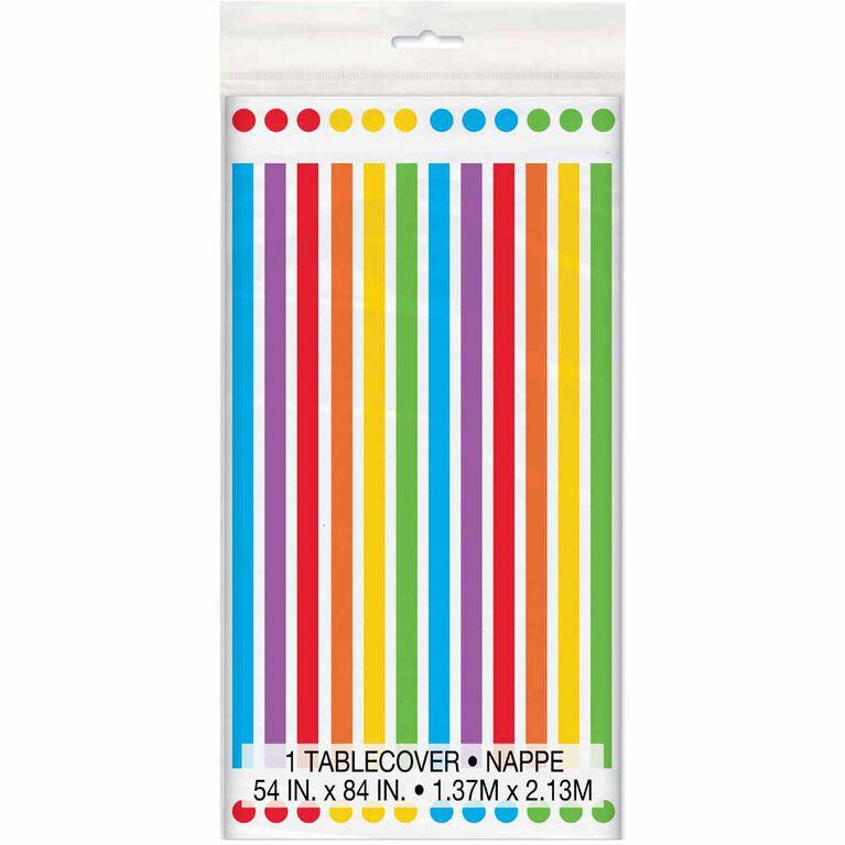 """Rainbow Birthday Nappe en Plastique 54"""" x 84"""""""