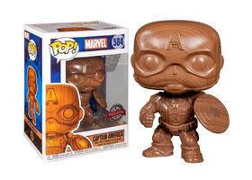 Figurine en Vinyle Captain America par Funko POP! Marvel - Notre exclusivité