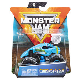 Monster Jam, Official Crushstation Monster Truck, Die-Cast Vehicle, Crazy Creatures Series, 1:64 Scale