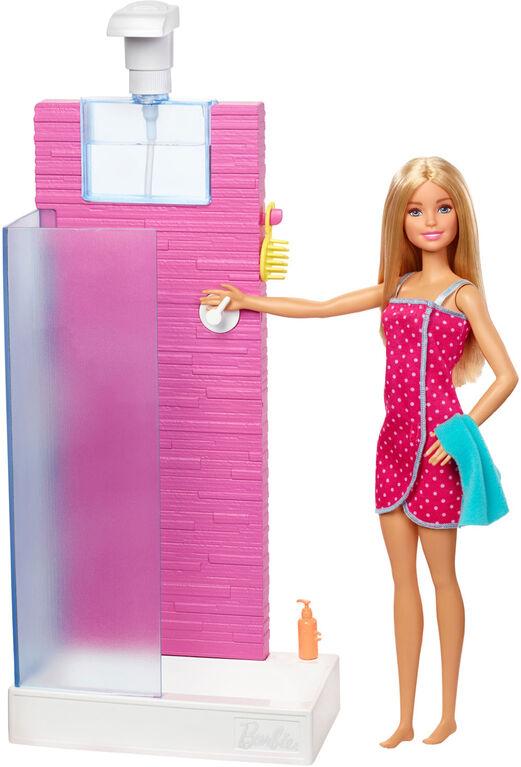 Barbie Doll & Shower Set