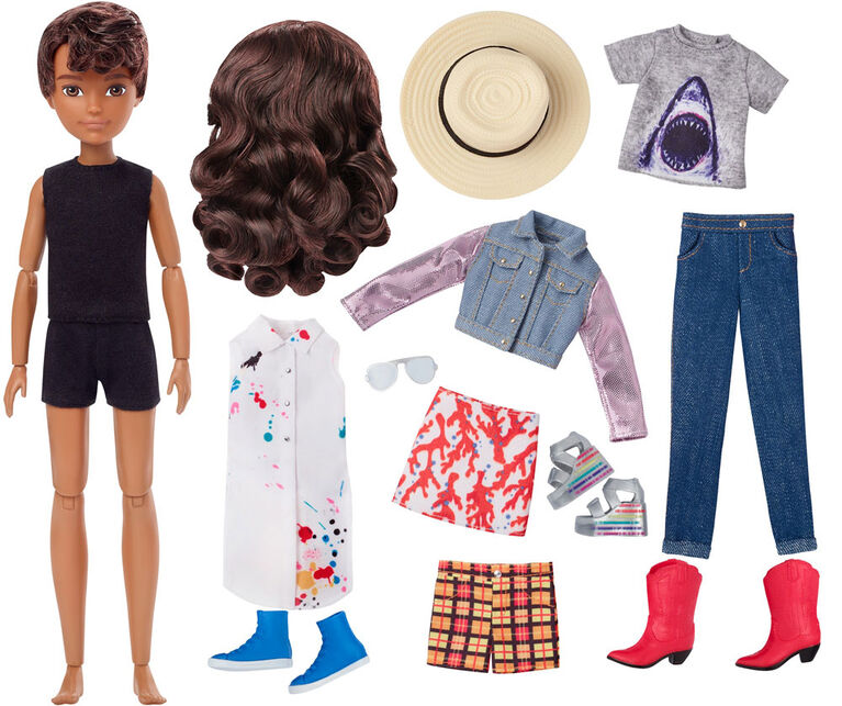 Creatable World Deluxe Character Kit, Brunette Wavy Hair