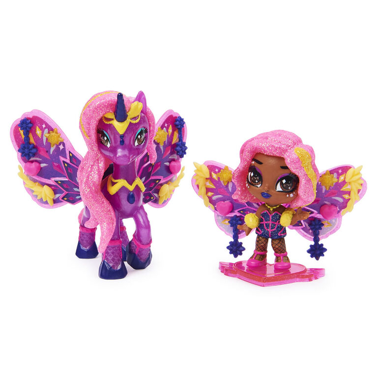 Hatchimals Pixies Riders, Wilder Wings, Pixie Starlight et Glider licorne avec 16 accessoires pour ailes (plusieurs modèles disponibles)
