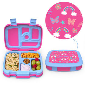 Bentgo Kids Prints Leak-Proof, 5-Compartment Bento-Style Kids Lunch Box - BPA-Free and Food-Safe Materials - 2020 Collection - Rainbows and Butterflies - Édition anglaise