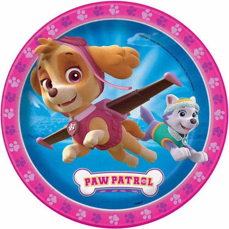Paw Patrol ROSE Assiettes 9po, 8un