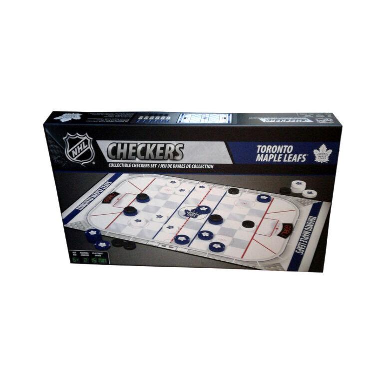 Toronto Maple Leafs Checkers Board Game