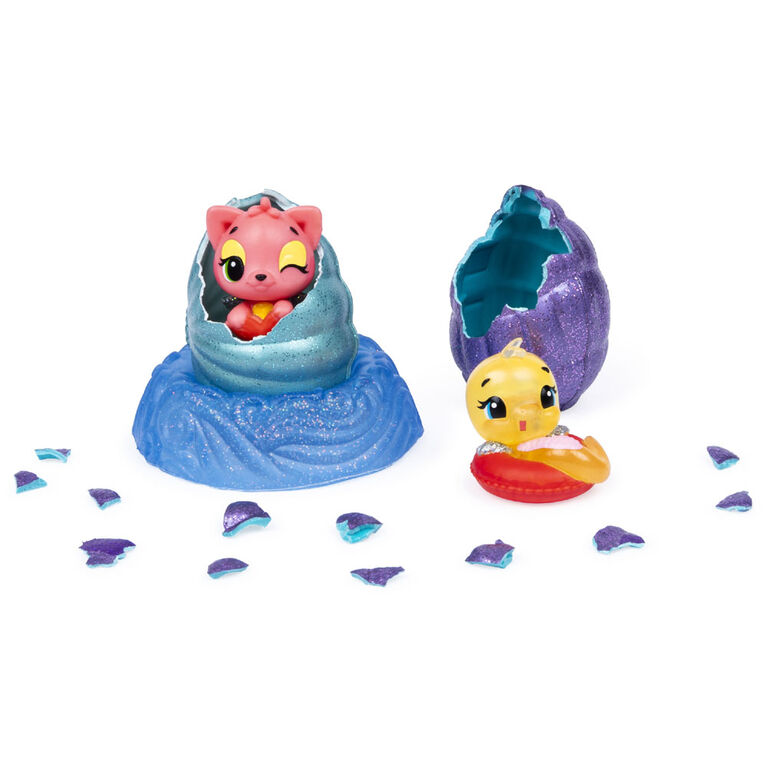 Hatchimals CollEGGtibles, Mermal Magic 2 Pack + Nest with Season 5 Hatchimals (Styles May Vary)