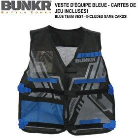 NBL BUNKR Tactical Blue Team Vest for Blaster Battles