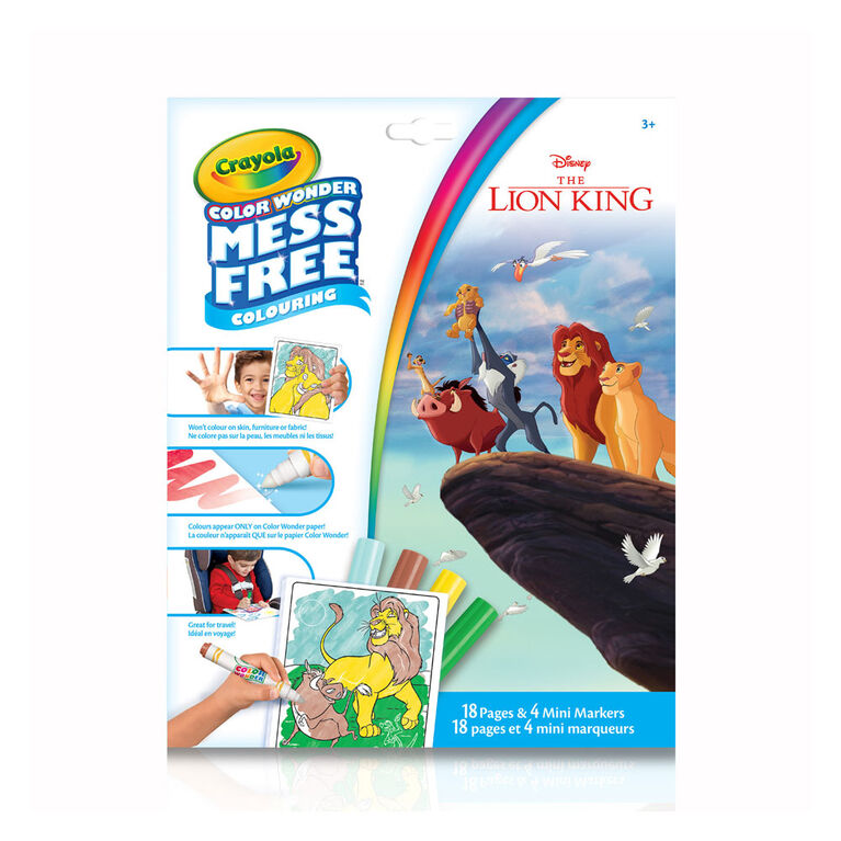 Crayola Mess-Free Color Wonder Pages & Mini Markers, Lion King