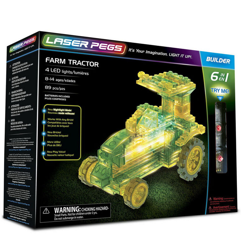 Laser Pegs Farm Tractor 6-In-1 Building Set