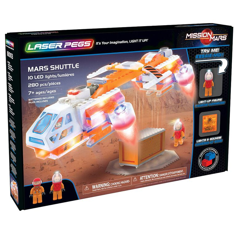Laser Pegs Mission Mars Collection - Mars Shuttle