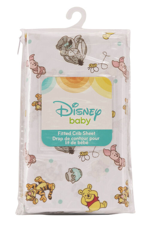Disney Baby Fitted Crib Sheet- Winnie The Pooh