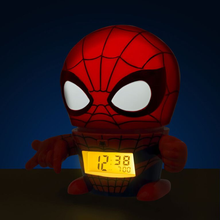 BulbBotz Marvel Spider-Man Night Light Alarm Clock