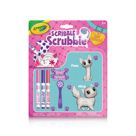 Crayola Scribble Scrubbie Pets 2-Pack, Cats