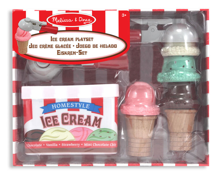 Melissa & Doug Scoop & Stack Ice Cream Cone Playset - styles may vary